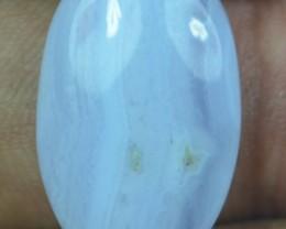12.45 CT BLUE LACE AGATE  BEAUTIFUL NATURAL CABOCHON x17-145