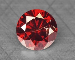 0.10 Cts Natural Red Diamond Round Africa