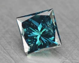 0.20 Cts Natural Blue Diamond Square Princess Africa
