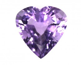 3.27cts Natural Purple Amethyst Heart Shape