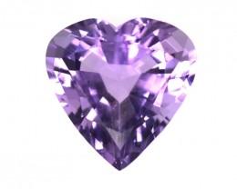 3.27cts Natural Purple Amethyst Heart Shape