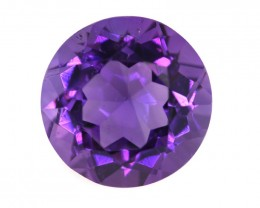 8.75cts Natural Purple Amethyst Round Shape