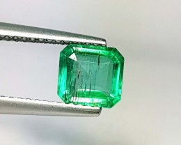 1.11 ct Fantastic Top Luster Square Cut Natural Emerald
