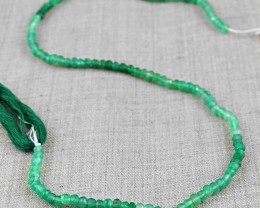 Genuine 24.00 Cts Green Fluorite Faceted Beads Strand