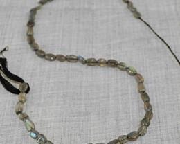 Genuine 40.50 Cts Blue Flash Labradorite Beads Strand