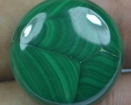 29.80 Cts Natural Malachite Cabochon (UnHeated + UnTreated) x42-99