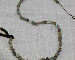 Genuine 42.50 Cts Amazing Flash Labradorite Beads Strand