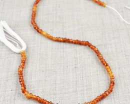 Genuine 42.50 Cts Hessonite Garnet Beads Strand
