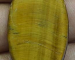 41.70 Ct  TIGERS EYE UNTREATED NATURAL BEAUTIFUL CABOCHON X28-80