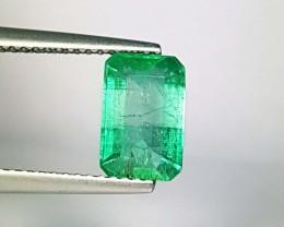 1.82 ct Collective Gem AAA Green Emerald Cut Natural Emerald