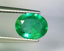 1.19 ct Beautiful Gem Fine Green Oval Cut Natural Emerald