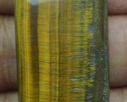 43.75 Ct  TIGERS EYE UNTREATED NATURAL BEAUTIFUL CABOCHON X28-69