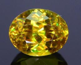 Rare AAA Fire 1.53 ct Malayaite Sphene Bright Yellow Badakhshan Sku-19