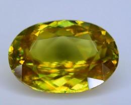 Rare AAA Fire 1.88 ct Malayaite Sphene Bright Yellow Badakhshan Sku-19