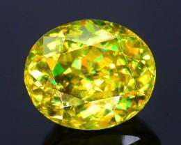 Rare AAA Fire 2.08 ct Malayaite Sphene Bright Yellow Badakhshan Sku-19