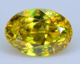 Rare AAA Fire 1.06 ct Malayaite Sphene Bright Yellow Badakhshan Sku-19