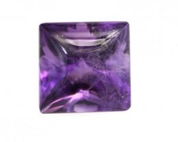 3.56cts Natural Purple Amethyst Buff Top Princess Cut