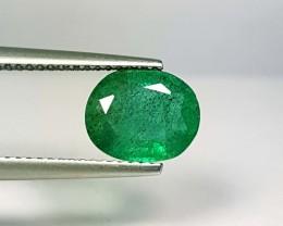 1.98 ct Marvelous Gem Oval Cut Natural Emerald