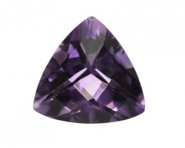 4.95cts Natural Purple Amethyst Trillion Checker Board Cut