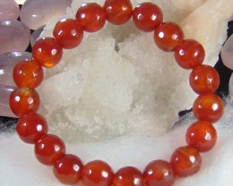 Natural Beautiful Red Carnelian cut Beats 10 mm Round faceted
