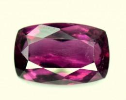 No Reserve - 3.20 cts Deep Color Radiant Cut Rubellite Tourmaline Gemstone