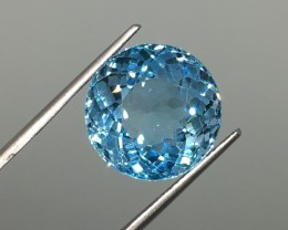 18.28 Carat VVS Blue Topaz - Big, Brazilian Beauty - Stunning!