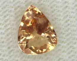 0.85CTS CERTIFIED GOLDEN/SHERRY TOPAZ FACETED GEMSTONE TBM-1367