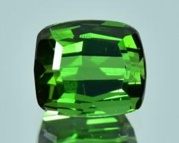 2.00 Cts Beautiful Top Green Natural Tourmaline Cushion Shape NR