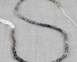 Genuine 30.00 Cts Blue Iolite Beads Strand