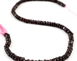 Genuine 120.00 Cts Red Garnet Beads Strand