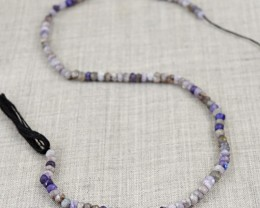 Genuine 40.00 Cts Blue Flash Labradorite & Iolite Beads Strand