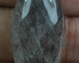 23.15 Ct Rutilated Quartz Natural Untreated Rutile Cabochon X44-86