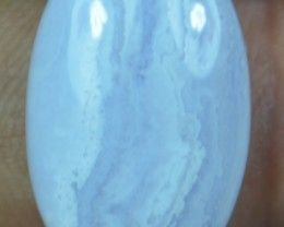 14.10 CT BLUE LACE AGATE  BEAUTIFUL NATURAL CABOCHON x17-160
