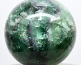 52mm Rainbow Banded Green Purple Fluorite Sphere - China (STFS-CM3-26)