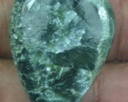 38.85 Ct Seraphinite Natural Untreated Cabochon x45-66