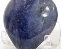 59mm Blue Iolite Puffy Heart Natural Cordierite Crystal - India STIOH-NA102