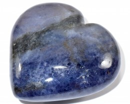 61mm Blue Iolite Puffy Heart Natural Cordierite Crystal - India STIOH-NA104