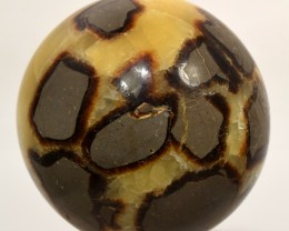 64mm Septarian Dragon Stone Crystal Mineral Sphere - Madagascar STSDB-AA54