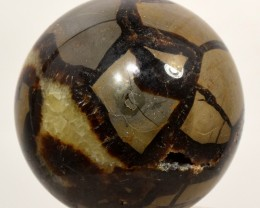 62mm Septarian Dragon Stone Crystal Mineral Sphere - Madagascar STSDB-AA55