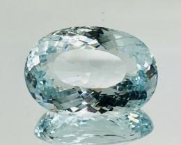 23.05 Crt Aquamarine Faceted Gemstone