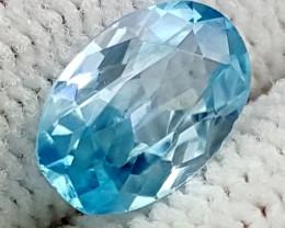1.65CT BLUE ZIRCON BEST QUALITY GEMSTONE IGC485