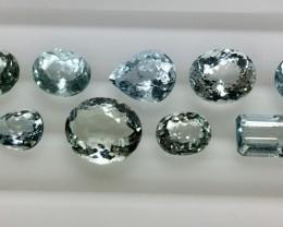 15.20 Crt Aquamarine Parcels Faceted Gemstone