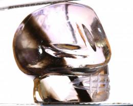 23.10CTS AMETRINE CARVING - SKULL  LT-475