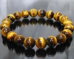 Tiger eye Natural Stone  Bracelet 8 MM