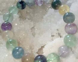 Multi Fluorite Stone Natural 8 MM Beads Bracelet