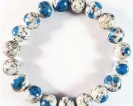 Natural  azurite Stone Bracelet 10 mm