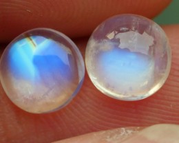 2.50 CRT TOP QUALITY PAIRS MOON STONE FLASHING COLOR-