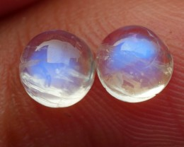 1.25 CRT TOP QUALITY PAIR MOON STONE FLASHING COLOR-