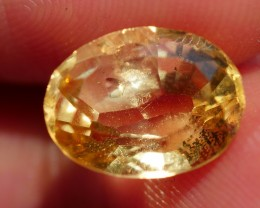 3.10 CRT FACETED GOLDEN YELLOW CITRINE-