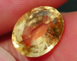 3.50 CRT FACETED GOLDEN YELLOW CITRINE-